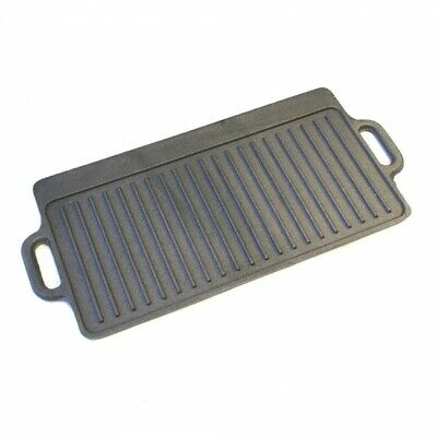 £15.99 • Buy Large Non Stick Cast Iron Griddle Pan Skillet Cooking Plate Hob Stove BBQ Grill