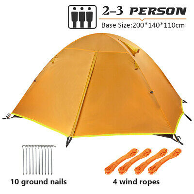£42.99 • Buy 2-3 Man Person Double Layer Tent Family Tent Camping Festival Shelter Waterproof