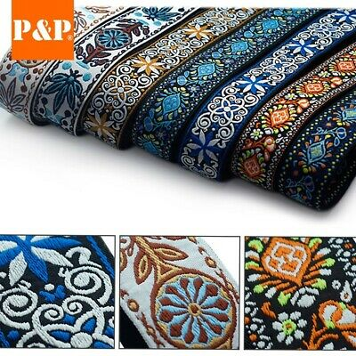 AU15.93 • Buy 1* Guitar Strap Embroidered Adjustable Woven Bass Electric Acoustic Guitars New