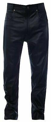 £94.15 • Buy Mens Black '501' Style Leather Jeans Classic Biker Cowhide Motorcycle Trousers