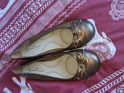 £5 • Buy NEW! Ladies Emilio Luca Shoes. Size 7 Wide Fit Bronze  Round Toe. Bow.