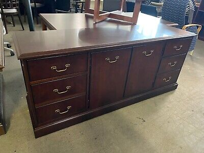 $375 • Buy TRADITIONAL STYLE STORAGE CREDENZA In MAHOGANY COLOR WOOD