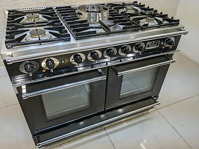 £1450 • Buy Falcon Continental Range Cooker  Dual Fuel 110 Cm  In Black & Chrome A616