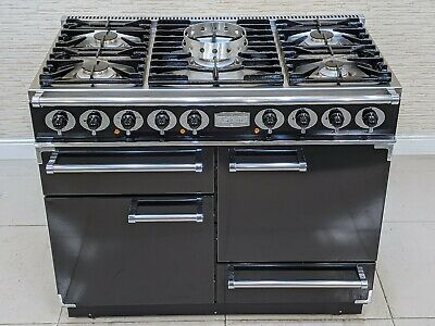 £1550 • Buy Falcon 1092 Deluxe Range Cooker  Dual Fuel 110 Cm  In Black & Chrome A582