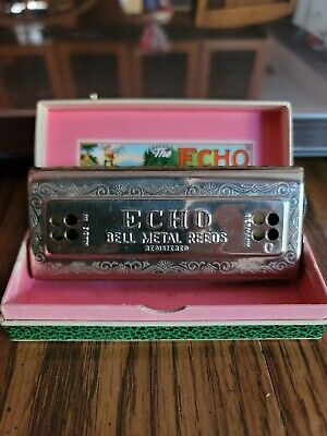 $50 • Buy Vintage M. Hohner   THE ECHO HARP  CG Double Sided Harmonica - Made In Germany.