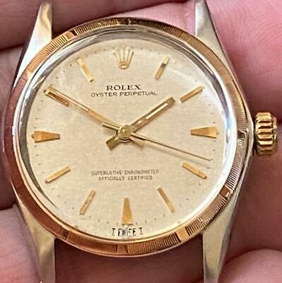 $ CDN921.34 • Buy Rolex Oyster Perpetual 6549 Vintage Two-tone Watch 100% Genuine Mid-size 31mm