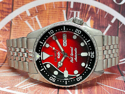 $ CDN0.01 • Buy Seiko Diver Automatic Watch 7s26-0030 Skx013 Red Special Mod 740047