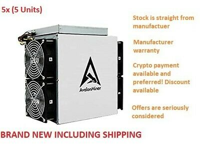 AU3250 • Buy BRAND NEW 5x Canaan Avalon A1166 Pro 75TH IN STOCK FREE SHIPPING (Bitcoin Miner)