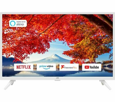 £199.97 • Buy Jvc Lt-32c606 32  Smart Wifi Led Tv Freeview Play Hd Built-in Dvd Player White
