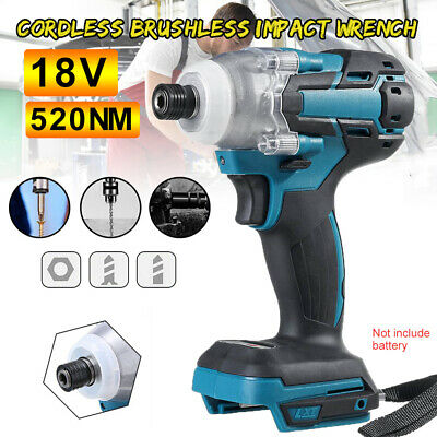 £25.98 • Buy 18V Cordless Impact Wrench Brushless Driver Torque Replace For Makita Battery UK