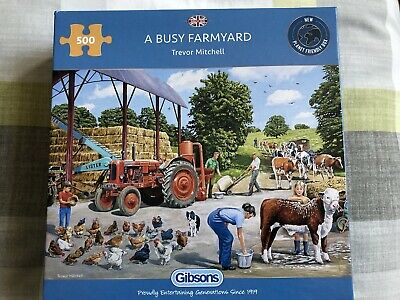 £2 • Buy Gibsons Jigsaw Puzzle 500 Pieces 'A Busy Farmyard' VG Condition