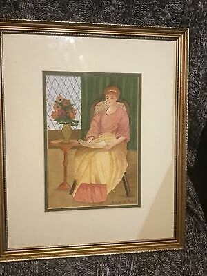 £39.99 • Buy Brenda Agent  Signed Ltd Edition Framed Picture  - Lady At Leisure 36x43 Cm
