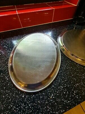 £25 • Buy 2 Stainless Steel Trays 1 Is 'Olde Hall' Other NK  Made In England. 18  X 13.5 .