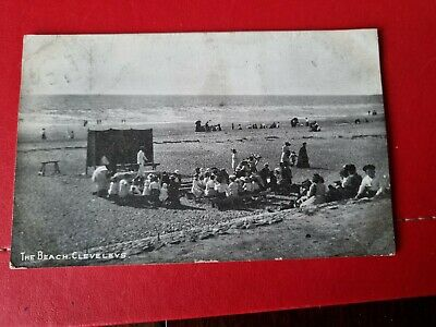 £2.99 • Buy Early View Of Cleveleys, Blackpool 1907, Beach Show. Vintage Printed Postcard.