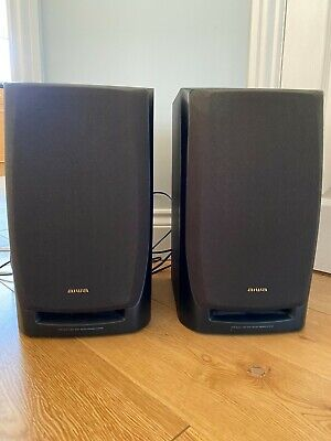 £14.50 • Buy Pair Of Aiwa Front Twin Duct 3-way Bass Speakers. 6 Ohm. Black. Good Condition