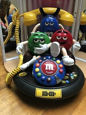 $40 • Buy M&M 's Candy Animated Talking Light-Up Telephone Phone. Tested And Works!
