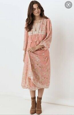 AU240 • Buy Spell And The Gypsy Hendrix Boho Dusty Pink Dress BNWT Size Small