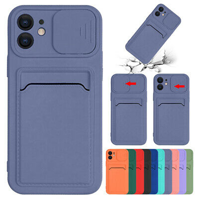 AU8.99 • Buy For IPhone 11 12 Pro Max XS XR 8 7+ Silicone Case Wallet Card Holder Slim Cover