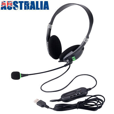 AU15.89 • Buy AU USB Headset Gaming Headphone With Microphone Noise Cancelling To PC Laptop