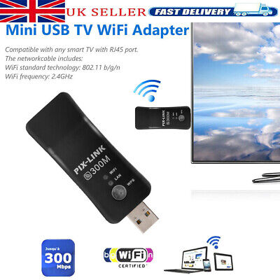 £9.99 • Buy Wireless LAN Adapter WiFi Dongle RJ-45 Ethernet Cable For Samsung Smart TV UK