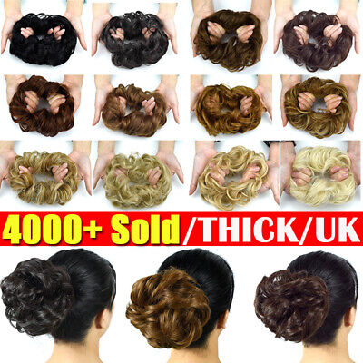 £4.99 • Buy LARGE Curly Messy Bun Hair Piece Scrunchie Thick Hair Updo Extension  Highlight
