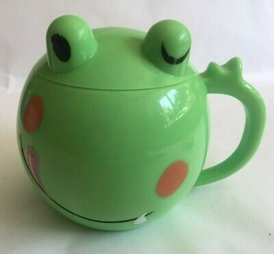 £8 • Buy Children's Green Plastic Frog Cup With Lid ~L9.5xW8cm
