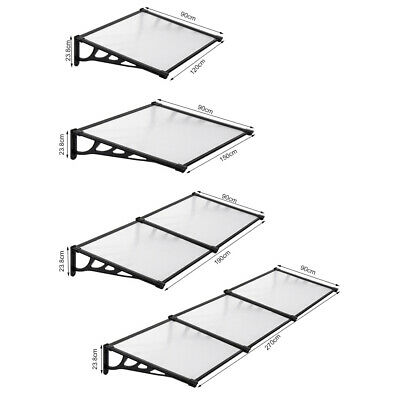 £47.95 • Buy Front Door Canopy Porch Rain Protectors Awning Lean To Roof Shelter Shade Covers