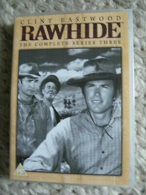 £3.99 • Buy Rawhide - The Complete Series 3 Three (DVD 8-Disc  Western Clint Eastwood Rare
