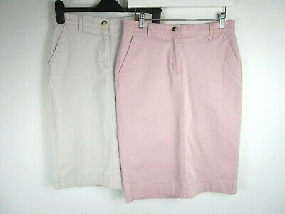 £3.20 • Buy Pure Collection 2 X Chino Pencil Skirts Pink & Beige UK Size 12