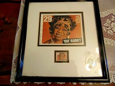 $9.99 • Buy 1995 Ma Rainey African American Lithograph & Stamp Framed