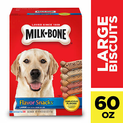 $14.56 • Buy Milk-Bone Flavor Snacks Dog Biscuits - For Large-sized Dogs, 60-Ounce