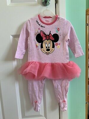 £1.80 • Buy Girls Minnie Mouse One Piece With Tutu 6-9 Months