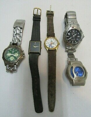 $ CDN1.23 • Buy 5 Vintage Watches Seiko Storm Fossil Disney Watch All Need Repairs Show Wear