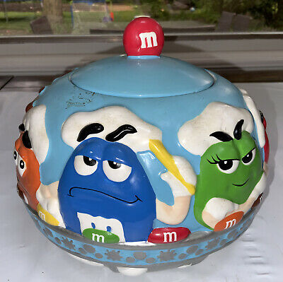 $17.99 • Buy M&M Ceramic Cookie Jar& Tin Bus Collectibles By Galerie. 2002