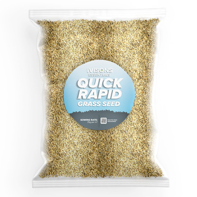 £8.95 • Buy 1 KG Ivisons Quick Rapid Super Fast Germinating Grass Seed Mixture
