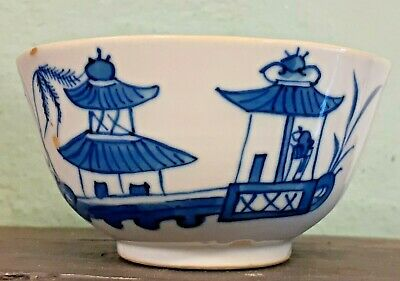 £9 • Buy Antique Hand Painted Chinese Blue & White Porcelain Tea Bowl