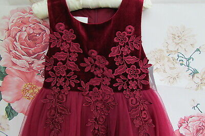 £14.99 • Buy BNWT Deep Pink Flower Girl Bridesmaid Party Occasion Dress By Cinderella 3-4
