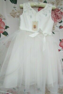 £24.99 • Buy BNWT Ivory White Flower Girl Bridesmaid Party Occasion Dress Monsoon 9-10 £70