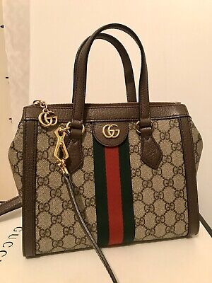 AU2350 • Buy Gucci Ophedia GG Small Tote Handbag Authentic Excellent Condition Top Handle