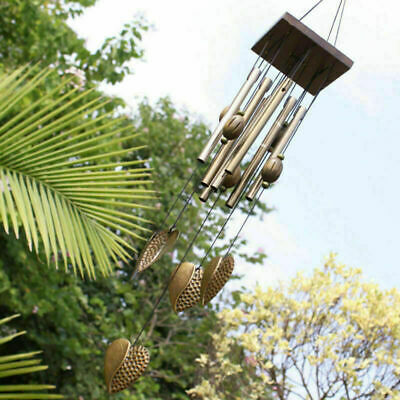 £6.39 • Buy Heart Metal Wind Chime Patio Garden Home Yard Hanging Wind Bell Decoration