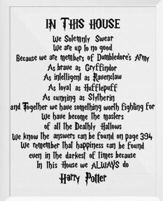 """£3 • Buy Pdf Harry Potter 'in This House We"""" Counted Cross Stitch Chart/pattern Only"""
