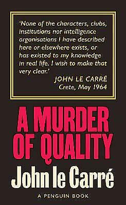 £7.64 • Buy A Murder Of Quality - 9780241330883