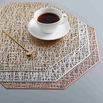 AU5.03 • Buy PVC Place Mats Coasters Table Runners Dining Placemats Washable Non-Slip T6X9