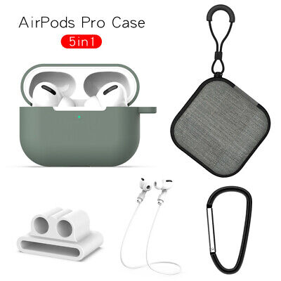 $ CDN4.97 • Buy For Airpods Pro Earphone Box 5 In 1 Outfit Protective Silicone Soft Case Cover
