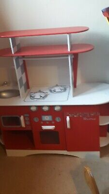 £15.99 • Buy Elc Play Pretend Wooden Kitchen Red And White