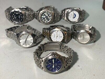 $ CDN12.44 • Buy 7x Mens Fossil Kenneth Cole Quicksilver Benrus Metal Watches Running