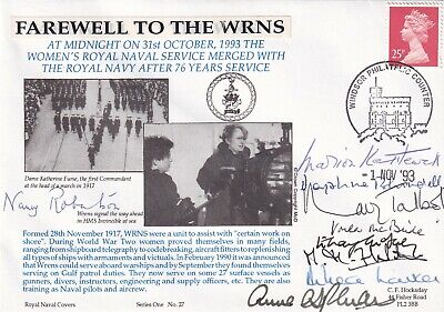 £11.95 • Buy RNCH27b Farewell To The WRNS Signed By 9  WRNS