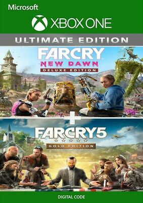 AU36.96 • Buy Far Cry 5 Gold Edition + Far Cry New Dawn Deluxe Edition (Xbox One, X|S) - CODE