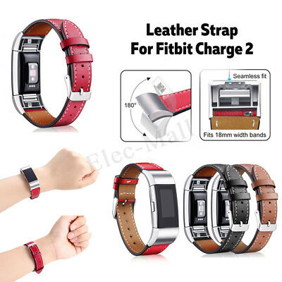 AU16.65 • Buy For Fitbit Charge 2 Replacement Leather Bracelet Wristband Watch Band         AU