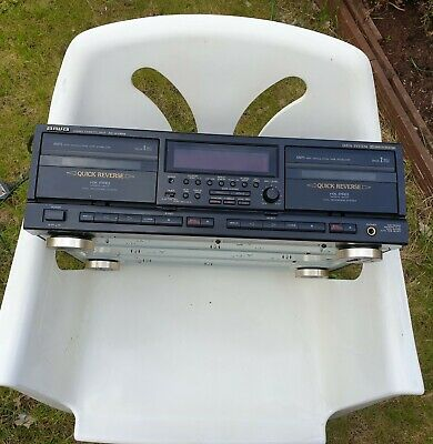 £100 • Buy Aiwa Stereo Dual Cassette Deck AD-WX929.